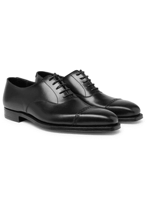 GEORGE CLEVERLEY - Charles Cap-Toe Leather Oxford Shoes - Men - Black - UK 6