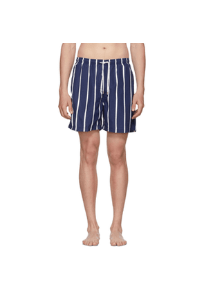 Solid and Striped Blue and White Slate Bondi Stripe Classic Shorts
