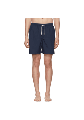 Solid and Striped Navy Classic Swim Shorts
