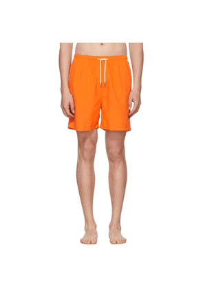 Solid and Striped Orange Classic Swim Shorts