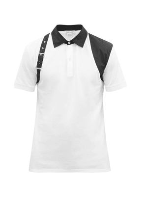 Alexander Mcqueen - Harness Cotton-piqué Polo Shirt - Mens - White