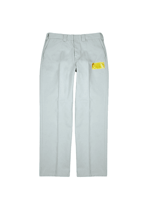Helmut Lang Industry Uniform Grey Twill Trousers