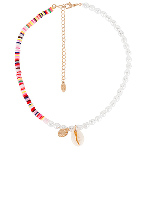 8 Other Reasons Poi Lariat Necklace in Metallic Gold.
