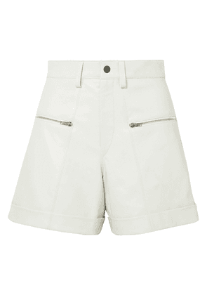 Isabel Marant Cedar Leather Shorts Woman Off-white Size 34