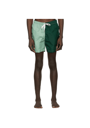 Bather Green Solid Swim Shorts