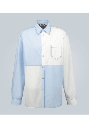 Cotton oxford and poplin shirt