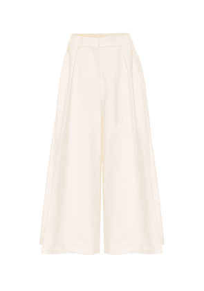 Helina high-rise cotton culottes