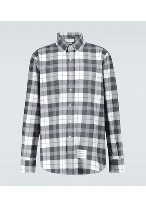 Straight-fit checked flannel shirt