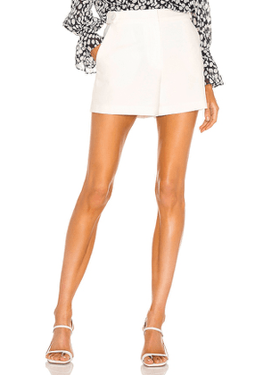 MILLY Aria Cady Short in White. Size 6.