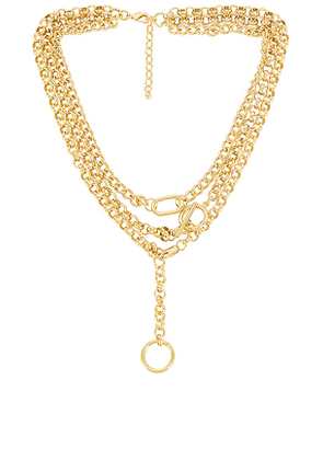 Uncommon James Luxe and Ball Necklace in Metallic Gold.