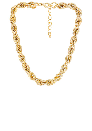 Uncommon James On Board Necklace in Metallic Gold.