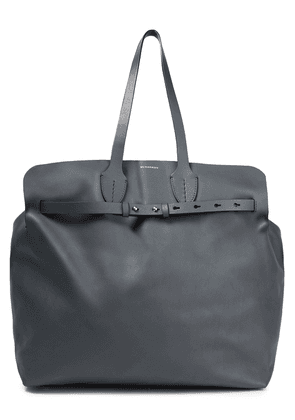Burberry Leather Tote Woman Anthracite Size --