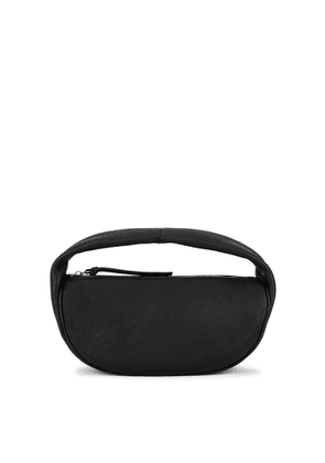 BY FAR Cush Black Nubuck Shoulder Bag