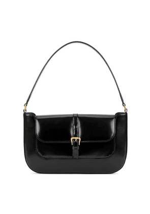 BY FAR Miranda Black Leather Shoulder Bag
