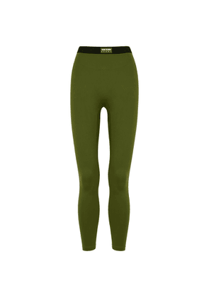 Adam Selman Sport Bonded Active Army Green Leggings