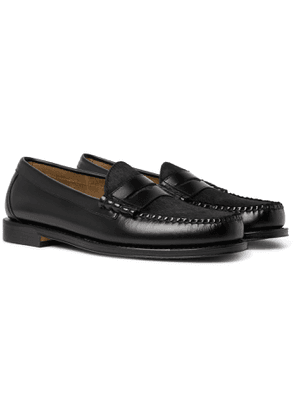 G.H. Bass & Co. - Weejuns Heritage Larson Calf Hair-Trimmed Leather Penny Loafers - Men - Black
