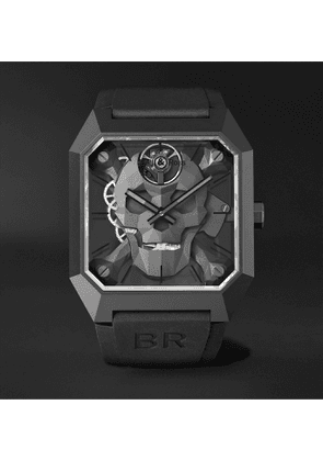 BELL & ROSS - BR 01 Cyber Skull Limited Edition Hand-Wound 46.5mm Ceramic and Rubber Watch, Ref. No. BR01-CSK-CE/SRB - Men - Black