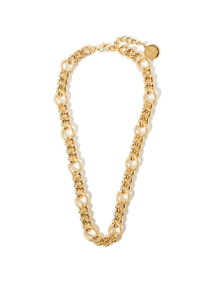By Alona - Lana Curb-chain 18kt Gold-plated Necklace - Womens - Yellow Gold