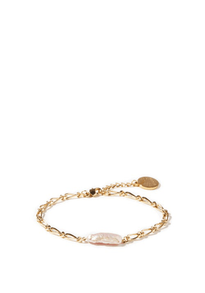 By Alona - Sylvie Pearl & 18kt Gold-plated Anklet - Womens - Pearl
