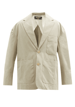 Jacquemus - Santon Patch-pocket Cotton Suit Jacket - Mens - Green