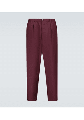 Drawstring wool pants