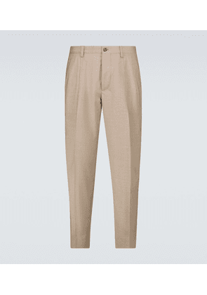 Stretch-wool tailored pants