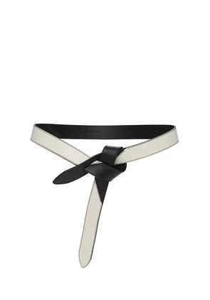 3cm Lecce Leather Patched Belt