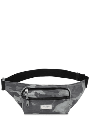 Logo Plaque Camo Nylon Belt Bag