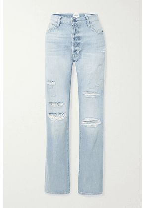 FRAME - Le Slouch Distressed Boyfriend Jeans - Mid denim
