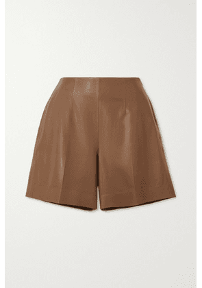 Vince - Leather Shorts - Brown