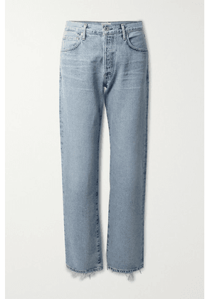 Citizens of Humanity - Emery Distressed High-rise Straight-leg Jeans - Light denim
