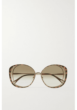 Chloé - Oversized Round-frame Acetate And Gold-tone Sunglasses