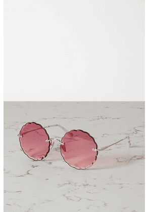 Chloé - Round-frame Gold-tone And Acetate Sunglasses