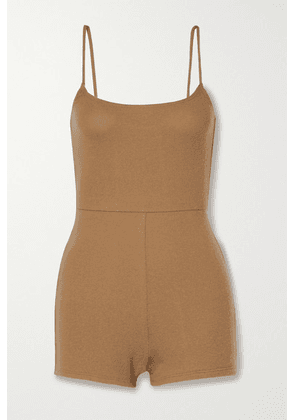 Reformation - + Net Sustain Venus Stretch Tencel Lyocell And Organic Cotton-blend Playsuit - Camel