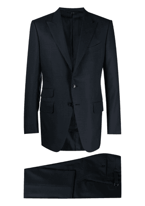 TOM FORD houndstooth single-breasted suit - Blue