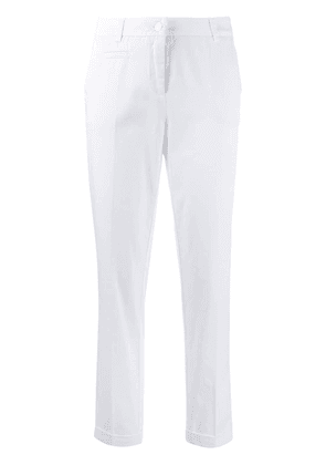 Cambio creased tapered trousers - White