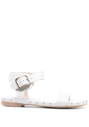 AGL studded leather sandals - White