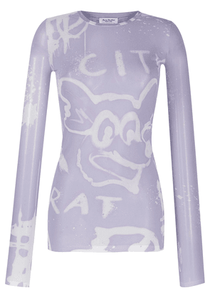 Acne Studios City Rat sheer top - Purple