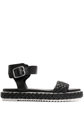 AGL woven-strap leather sandals - Black
