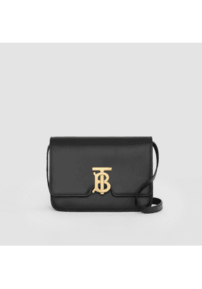 Burberry Small Leather TB Bag, Black