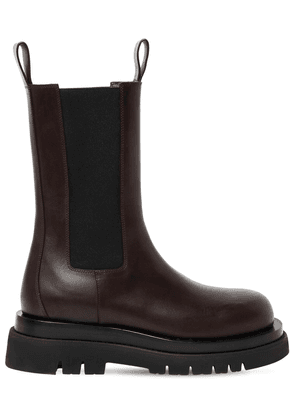 50mm Bv Lug Leather Beatle Boots