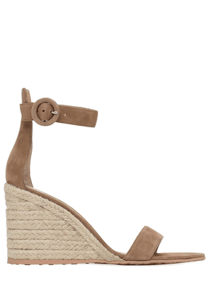 85mm Suede Espadrille Wedges