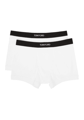Tom Ford Two-Pack White Cotton Boxer Briefs