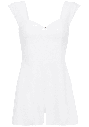 Alice + Olivia Iman Crepe Playsuit Woman Off-white Size 6