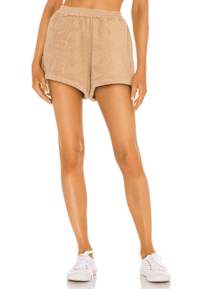 TERRY Estate Short in Tan. Size XS, M, L.