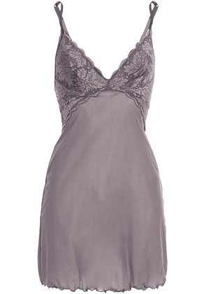 Cosabella Ballet Stretch-lace And Jersey Chemise Woman Lavender Size M