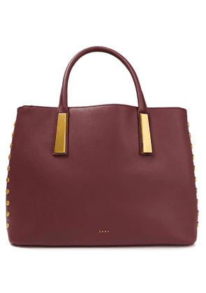 Dkny Ewen Pebbled-leather Tote Woman Burgundy Size --