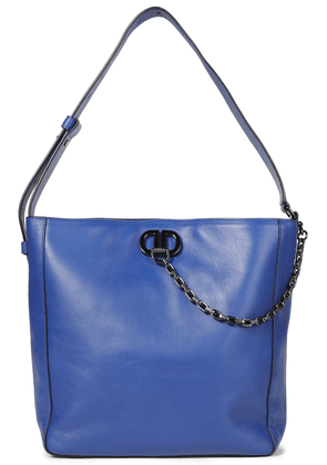 Dkny Linton Chain-trimmed Leather Tote Woman Royal blue Size --
