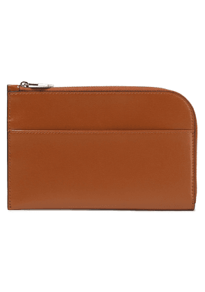 Ganni Textured-leather Wallet Woman Tan Size --