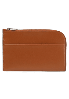 Ganni Textured-leather Pouch Woman Tan Size --